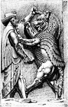 Хормазд борется с Ахриманом
