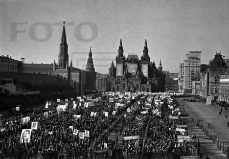 Демонстрация на Красной площади 7 ноября 1940 г