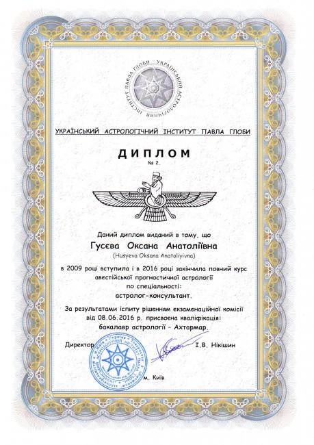 диплом астролога